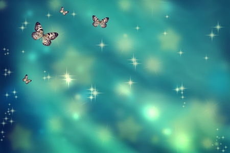 Rice Paper butterflies on a teal background photo
