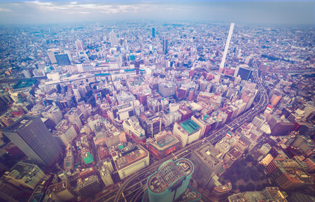 bustling: Aerial view of a bustling Tokyo Stock Photo