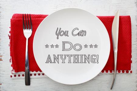 you can: Comida inspirada puedes hacer nada con arreglos de mesa