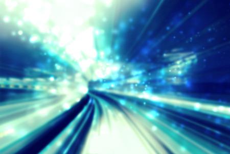 tunnel di luce: Tunnel di luce blu astratta futuristico percorso di sfondo