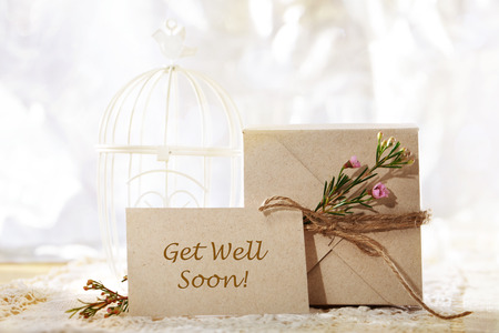 hand crafted: Get Well Soon hand crafted gift box and greeting card