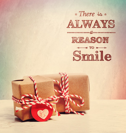There is always a reason to smile with cute little presents Imagens