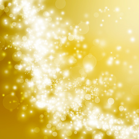 bright: Bright golden gradient lights and stars abstract background Stock Photo