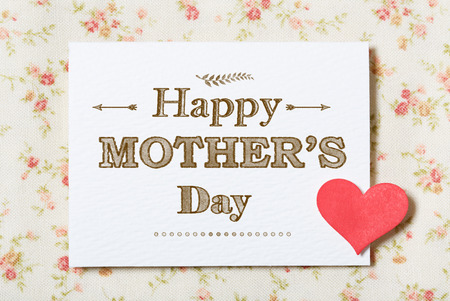 Happy Mothers Day card with floral background Stock Photo