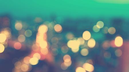 urban scenes: Blurred cityscape background scene at dawn from above