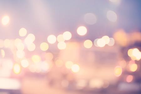 urban scene: Blurred urban traffic background scene in the night
