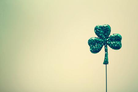 st patrics: Saint Patricks Day shiny green clover ornament