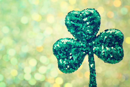saint patricks: Saint Patricks Day shiny green clover ornament