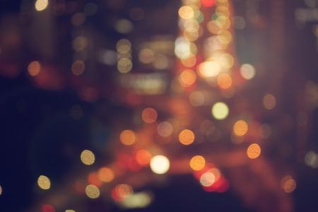 city night: Blurred urban highway background scene at night