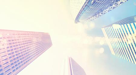 4 つの高層ビル探して東京都新宿区