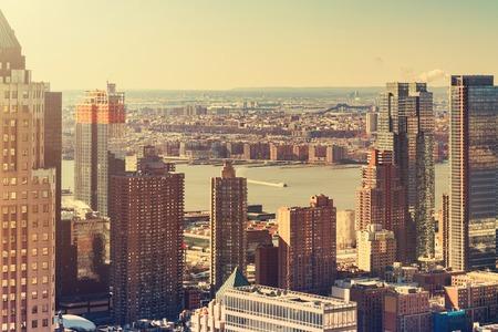 Midtown Manhattan New York skyline at sunset