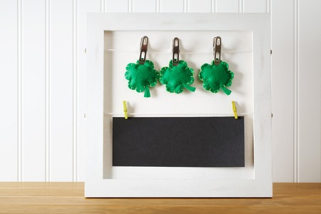 message board: Saint Patricks Day message board with clover cushions