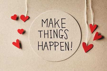 小さな和紙の心を作ることが起こるメッセージ