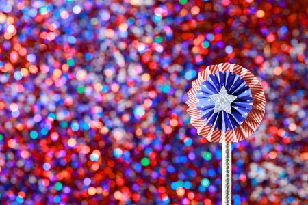 4th of July American Independence Day decorations on sparkling background