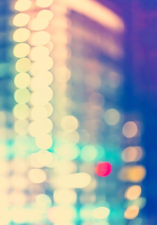rosslyn: Blurred abstract bokeh background of the city at night