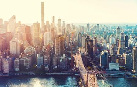 Aerial view of the New York City skyline near Midtown