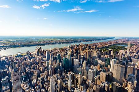 ミッドタウンからマンハッタン ニューヨークの空撮