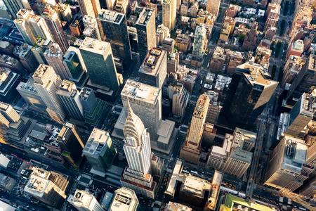 ミッドタウン マンハッタン ニューヨークの高層ビル群の空撮