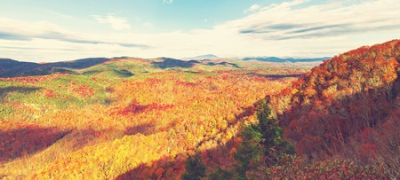 asheville: Blue Ridge Mountains in autumn near Asheville, North Carolina