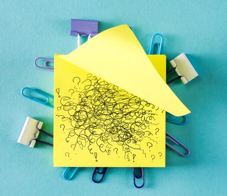 Doodle on a sticky note on a blue background