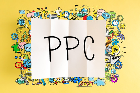 PPC text with colorful illustrations on a yellow background
