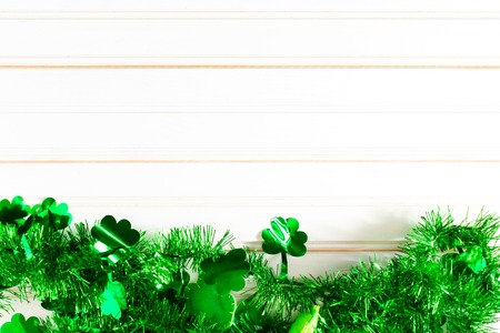 St. Patricks Day concept with Irish shamrock garland
