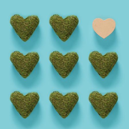 하나는 개념을 가진 녹색 이끼 마음의 시리즈