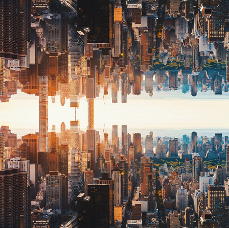 Aerial view of the New York City skyline near Midtown Stock Photo - 78340150