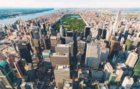 ミッドタウン マンハッタン, ニューヨーク、セントラル ・ パークの航空写真