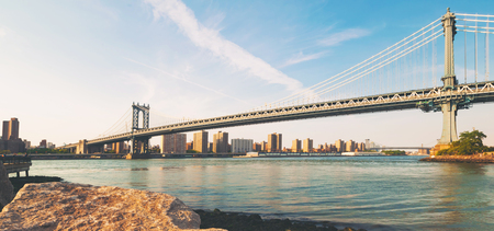 View of the Manhattan bridge from Brooklyn, New York