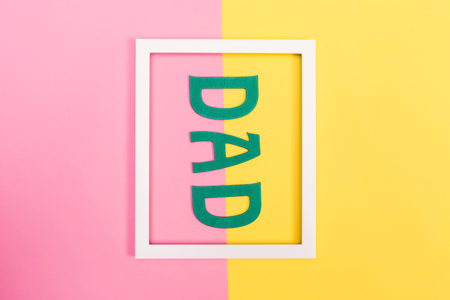 Fathers Day theme with frame on a vibrant background