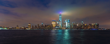 Lower Manhattan skyline and the Hudson river as seen from Jersey City