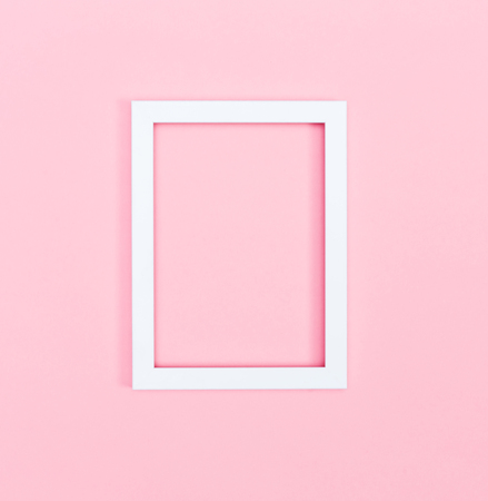 Empty picture frame on a bright solid background Reklamní fotografie - 79918321