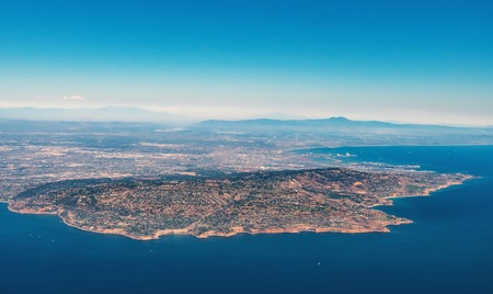 Aerial view of Rancho Palos Verdes, Los Angeles, CA