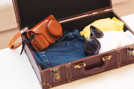 Packing for a trip Stock Photo
