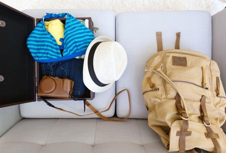 Packing for a trip Banco de Imagens