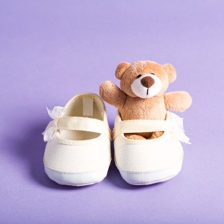 Child celebration theme with a teddy bear Stock fotó