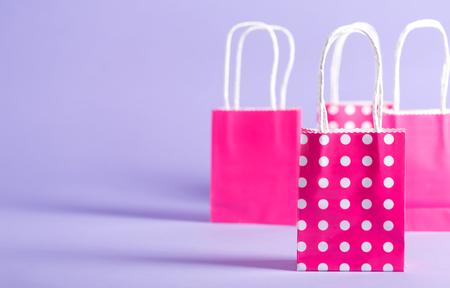 Polka dot gift bags Stock Photo