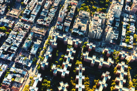 Aerial view of Stuyvesant Town and Peter Cooper Village in Manhattan, New York City