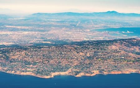 란초 Palos Verdes, 로스 앤젤레스, 캘리포니아의 공중보기