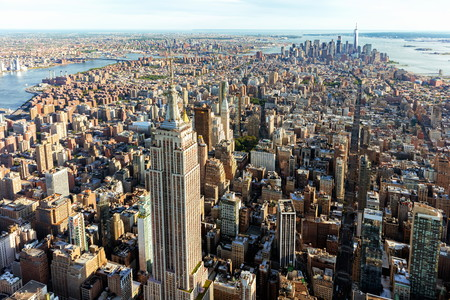 Aerial view of the skyscrapers of Midtown Manhattan New York City Reklamní fotografie - 85190480