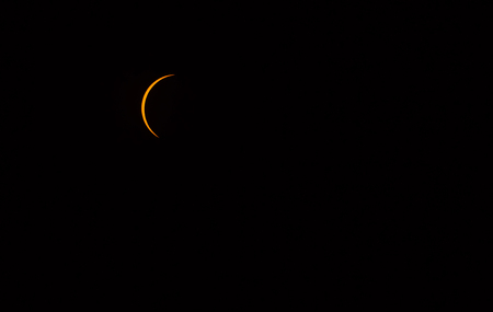 Solar eclipse as seen from Columbia, SC August 21st 2017