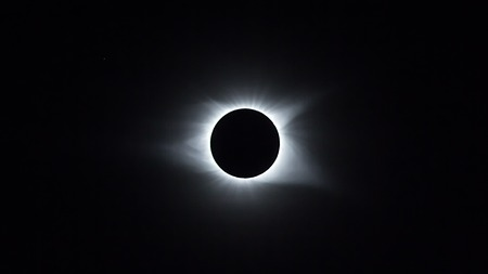 Solar eclipse in its totality as seen from Columbia, SC August 21st 2017 Stock Photo