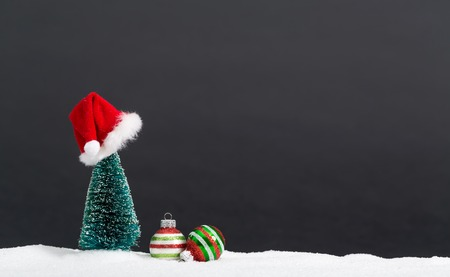 Christmas tree and little bauble decoration ornaments Stock Photo - 87268202