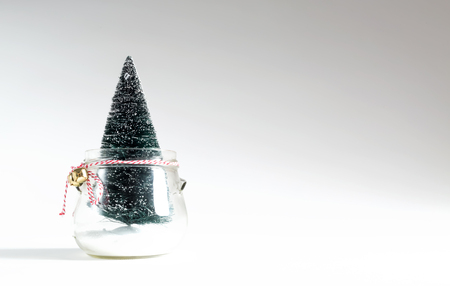 Small Christmas tree in a glass jar