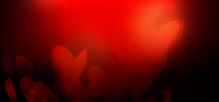 Beautiful shiny hearts and abstract lights background Imagens - 91734052