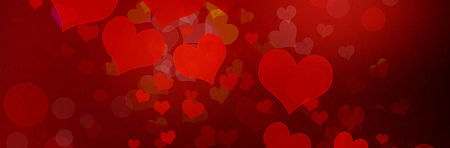 Vlentines day theme background with red hearts