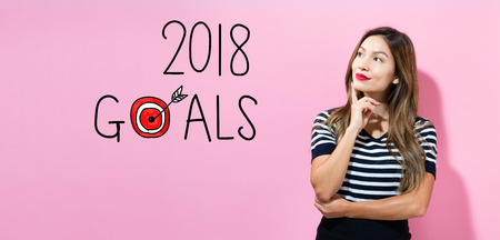 2018 Goals with young woman in a thoughtful pose