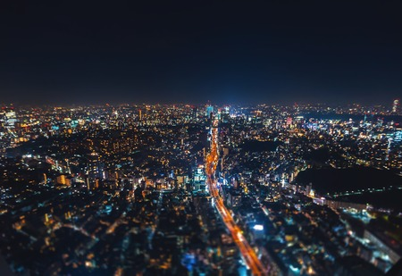 Aerial view of Tokyo, Japan from Roppongi Hills at night Reklamní fotografie