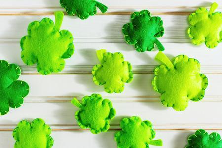 St. Patricks Day concept with Irish shamrocks Stok Fotoğraf